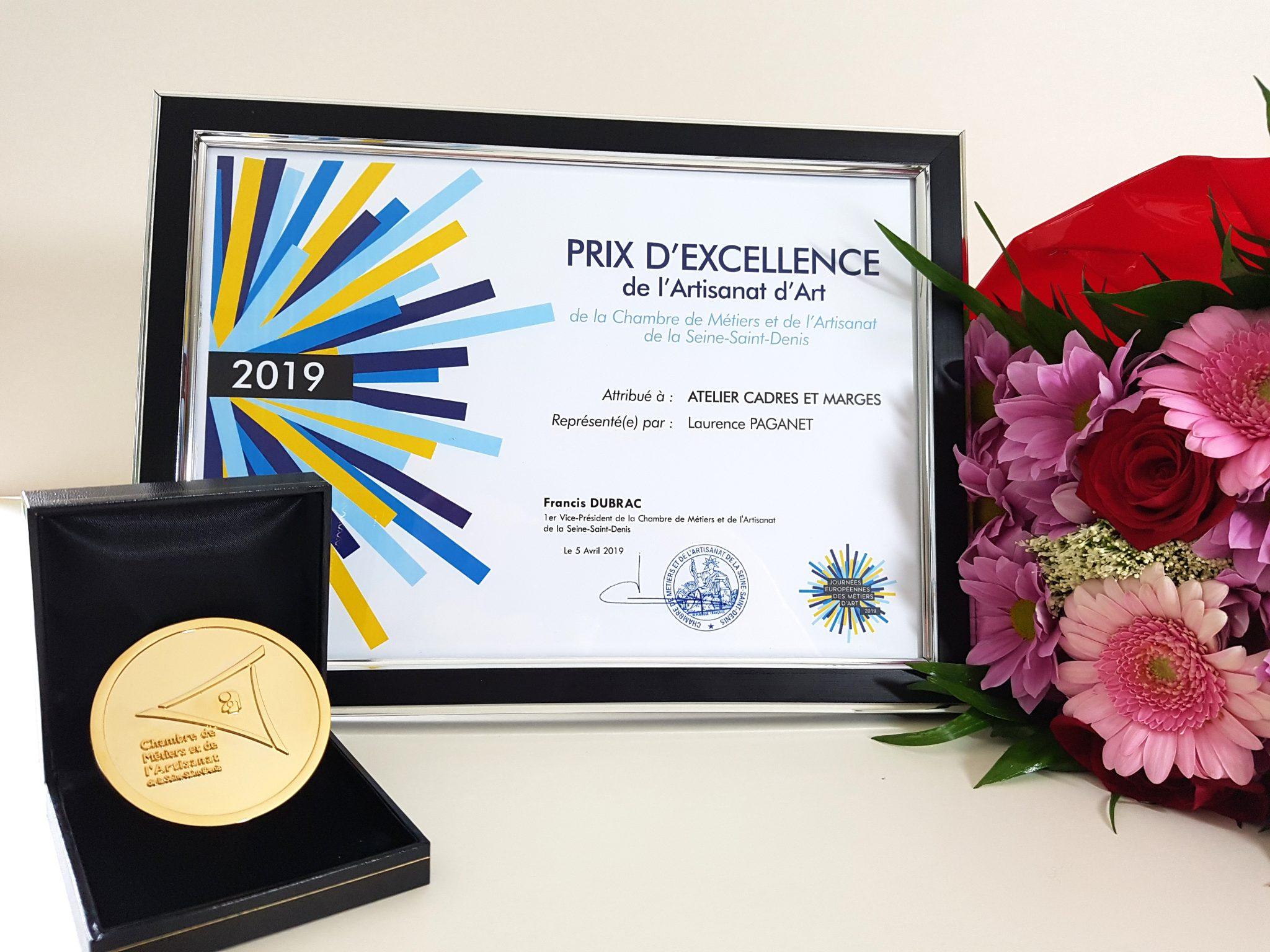 L'Atelier a reçu un prix d'excellence lors des journées européennes des métiers d'art en avril 2019.